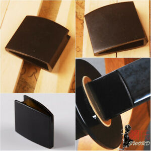 Black Brass Habaki Collar For Japanese Samurai Sword Katana Blade DIY