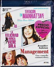Pack 3 blu-ray TENTACIÓN EN MANHATTAN, FELICIDAD NUNCA VIENE SOLA y MANAGEMENT