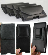Mobile Phone Glossy Leather Case Cover Waist Hang Belt Holster Clip Pouch Sleeve