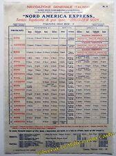 LOCANDINA Navigazione Generale Italiana 1931 Italia - New York _ TRANSATLANTICO