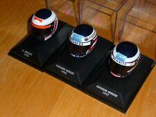 1/8 3 x Minichamps Helmet Gerhard Berger Ferrari 1995 Benetton 1996 1997