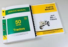 Service Manual Set For John Deere Model 50 Tractor Master Repair Parts Catalog