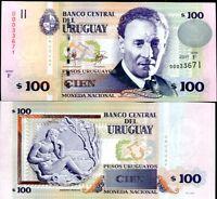 URUGUAY 50 PESO 1989 TDLR P 61A AUNC ABOUT UNC