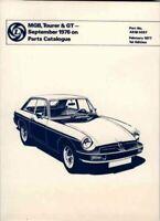 Mg Mgb Tourer September 76+ Parts Catalog, Paperback by Brooklands Books Ltd....