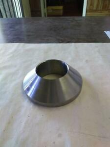 """NEW 2"""" I.D BRAKE LATHE CENTERING CONE ADAPTER.  2 1/8"""" TO 3 3/4"""" TAPERED O.D."""