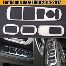4Pcs Stainless Steel Inner Window Switch Trim Cover For Honda Vezel HRV 2014-17