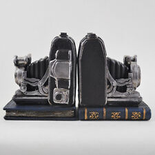Vintage Old Camera Bookend Shelf Organiser Books Study Office Heavy NEW 12505
