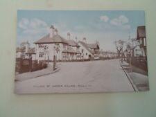 HULL, Village Road, Garden Village Vintage Philco Series Postcard No 4757  §B52