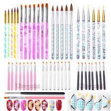 Nail Brushes Design Set Dotting Painting Drawing Nail Art Polish Brushes Pens UK