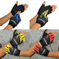 1Pair Sports Bicycle Cycling Biking Hiking Gel Half Finger Fingerless Gloves