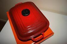Le CREUSET IN GHISA bassofondo RETTANGOLARE Cocotte CASSEROLE PAN 29 cm-Rosso Ciliegia