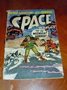 SPACE WORLDS #6 (ATLAS 1952) GOOD (2.0) cond. Pre-code Horror, Science Fiction