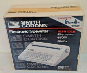 Vintage Factory Sealed SMITH CORONA 235 DLE Ribbon Electronic Typewriter NOS New