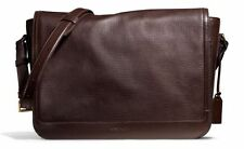 NWT Coach Crosby Business Messenger in Box Grain Leather Brass Mahogany F71222