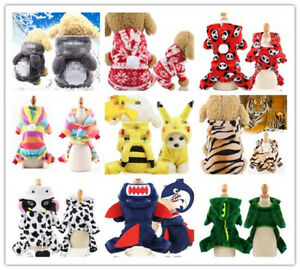 Pet Jumpsuit warm clothes cartoon transformed small/medium sized dog cat clothes