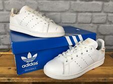 sports shoes 994f4 33bbf ADIDAS Donna UK 4 EU 36 2 3 Stan Smith bianco Scarpe da ginnastica in  tessuto ta.