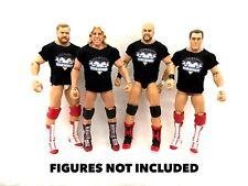 WWE Four Horseman 4 Custom Shirts For Mattel Figures. Flair Anderson Blanchard