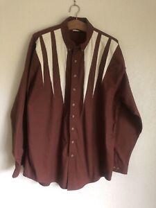 Vintage Mo Betta Western Men's Shirt Size XXL Button-down, Rust Colored