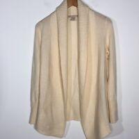 Banana Republic Size XS Ivory Cardigan Italian Fabric Soft Warm Cashmere Blend