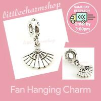 New Authentic Genuine PANDORA Sterling Silver Fan Hanging Charm - 791110 RETIRED