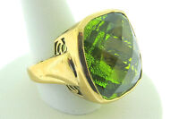 Sajen Bronze Ring by Marianna Richard Jacobs Square Shape Green Quartz Triplet