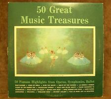 50 GREAT MUSIC TREASURES OPERAS  SYMPHONIES  2 RECORDS