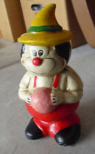 "Vintage Heavy Cast Iron Cartoon Character Clown Bank 7 3/4"" Tall  LOOK"