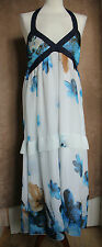 Blue and White Support Neck Dress-Lili sa me dit-Size M