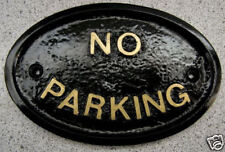NO PARKING - HOUSE DOOR PLAQUE SIGN CAR VEHICLE ENGINE