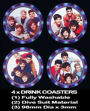 4  x ONE DIRECTION 5 MEMBER BOY BAND DRINK COASTERS