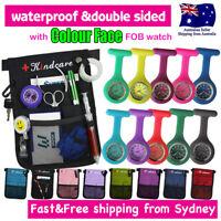 Nurse Pouch and Colour Face FOB Nurses Watch Extra Pocket Wallet PICK BAG
