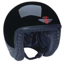 Davida Jet Gloss Black Traditional Jet Helmet ** FREE NEXT DAY UK DELIVERY **