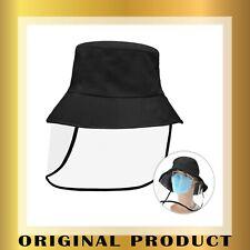 Sombrero Protector Facial Unisex Gorro de Pescador con Protecci/ón de Visera Transparente para al Aire Libre a Prueba de Viento//Polvo y Anti-UV