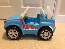 1999 Barbie Blue Jeep Wrangler Convertible Goodyear Tires Mattel RARE