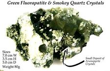 Natural Apatite & Smoky Quartz Crystal matrix from the mines of Portugal