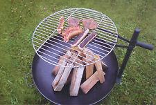 Grillrost Edelstahl  Ø 60 cm für Feuerschale schwenkbar und höhenverstellbar