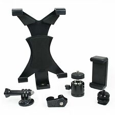 Locking Ball Head, Tablet & Phone Mount, Tripod Adapter, & Hot Shoe Adapter DLSR