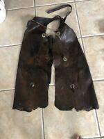 Antique Cowboy Chaps Western Leather Cowboy