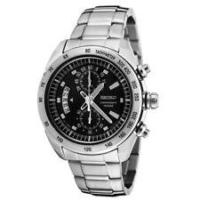Seiko Criteria SNN179 P1 Silver Black Dial Men's Chronograph Quartz Watch