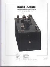 Schaltplan Radio-Amato Detektorempfänger Type B / Rundfunkmuseum