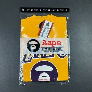 100% Authentic Aape x Mitchell Ness Lakers T Shirt Size S 36 Mens