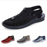 Casual Shoes Mens Sandals Sand Woven Roman Close Toe Comfort Summer Sneakers New