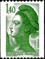 """FRANCE STAMP YVERT N° 2191 """" LIBERTE 1F40 TIMBRE DE ROULETTES """" NEUF xx LUXE"""