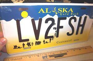 Alaska Gold Rush Centennial style License Plate LV2FSH replica plate USA made