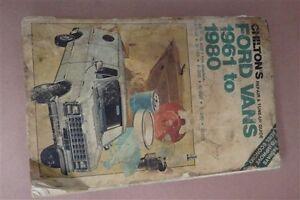 Chiltons Auto Repair Manual Ford Vans 1961-1980 1/2 3/4 1ton E100 E150 E350 E250