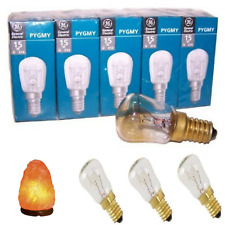 Pack 3 Himalayan Salt Lamp Bulb 15W E14 Screw Pygmy Light Bulbs Set Clear Glass