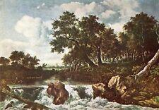 Alte Kunstpostkarte - Jacob van Ruysdael - Der Gebirgsstrom