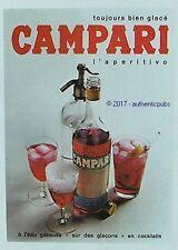 PUBLICITE CAMPARI APERITIF A L'EAU GAZEUSE COCKTAIL SIPHON DE 1965 FRENCH AD PUB