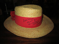 JACK NICKLAUS Autographed PANAMA HAT / Size S/M / by Biltmore Canada /