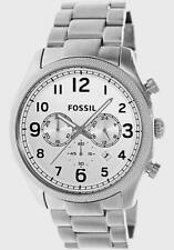 FOSSIL CRONO ACCIAIO SILVER DA UOMO 44MM  (FS4861) NUOVO LIST. 139 €